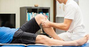 Man having his leg massaged