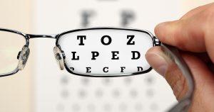 Glasses and an eye chart
